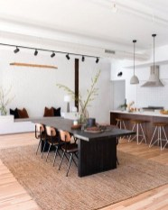 Minimalst Open Concept Kitchen And Dining Room Design Ideas 30