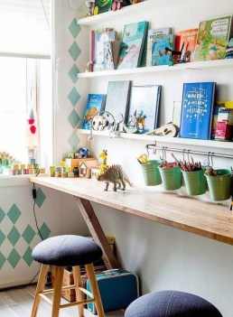 Stunning Desk Design Ideas For Kids Bedroom 44