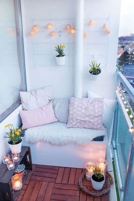 Awesome Small Balcony Ideas To Make Your Apartment Look Great 34