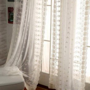 Beautiful White Curtains For Home With Farmhouse Style 02
