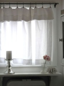 Beautiful White Curtains For Home With Farmhouse Style 26