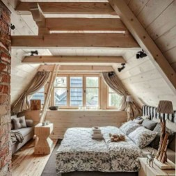 Comfy Attic Bedroom Design And Decoration Ideas 46
