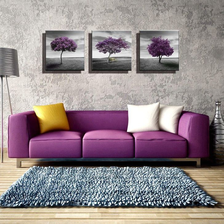 Cute Purple Living Room Design You Will Totally Love 04