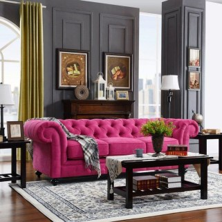 Cute Purple Living Room Design You Will Totally Love 07