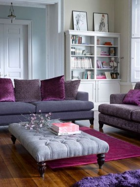 Cute Purple Living Room Design You Will Totally Love 10