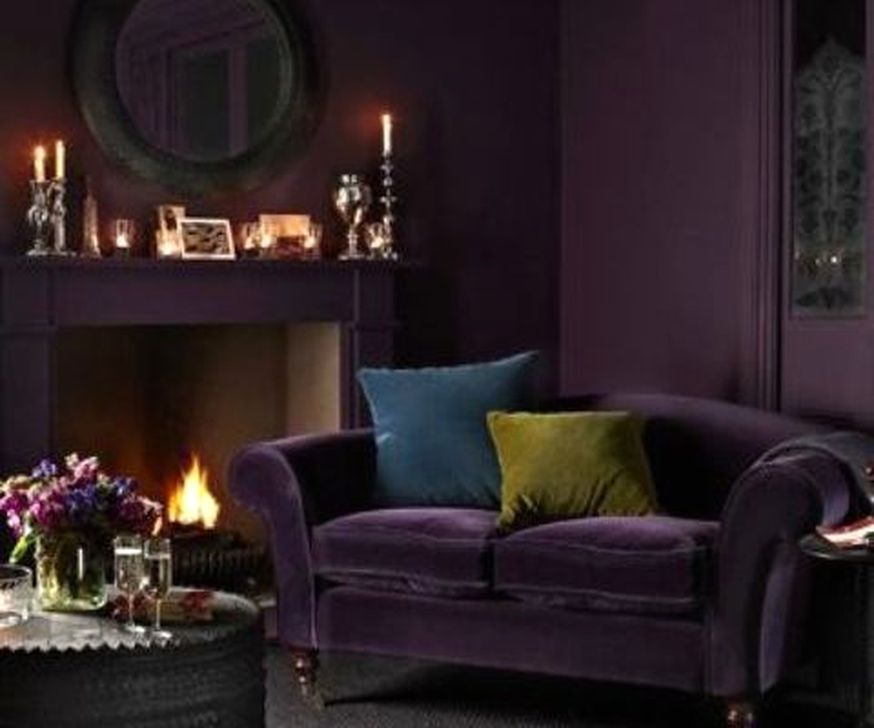 Cute Purple Living Room Design You Will Totally Love 11