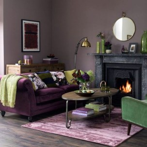 Cute Purple Living Room Design You Will Totally Love 12