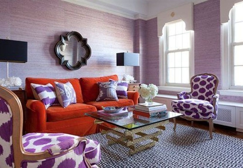 Cute Purple Living Room Design You Will Totally Love 14