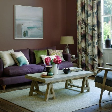 Cute Purple Living Room Design You Will Totally Love 16