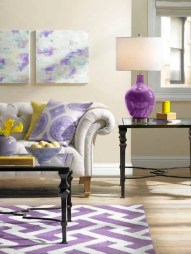 Cute Purple Living Room Design You Will Totally Love 34