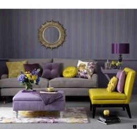 Cute Purple Living Room Design You Will Totally Love 35