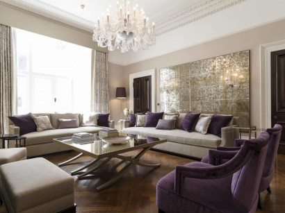 Cute Purple Living Room Design You Will Totally Love 42