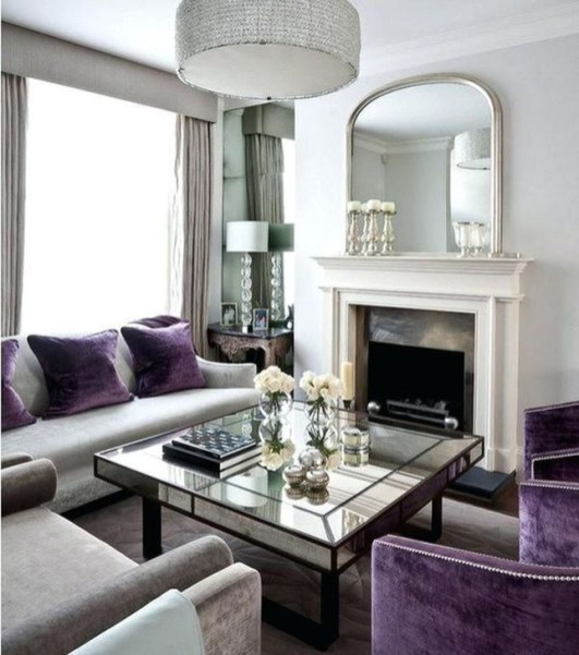 Cute Purple Living Room Design You Will Totally Love 47