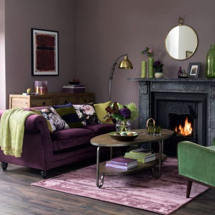 Cute Purple Living Room Design You Will Totally Love 48