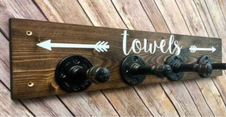 Easy DIY Towel Racks Ideas That You Can Do This 30