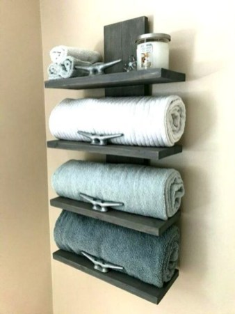 Easy DIY Towel Racks Ideas That You Can Do This 34