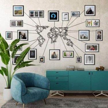 Fabulous Metal Wall Decor Ideas For Your Living Room 17