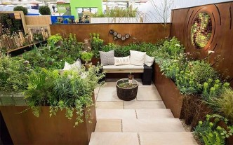 Impressive Seating Area In The Garden For Decoration 28