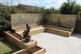 Impressive Seating Area In The Garden For Decoration 47