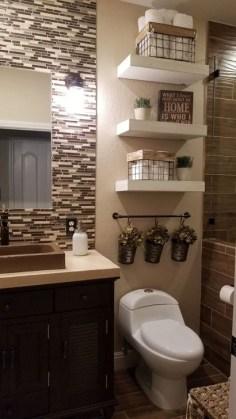 Inspiring Bathroom Decoration Ideas With Farmhouse Style 17