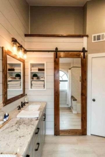 Inspiring Bathroom Decoration Ideas With Farmhouse Style 39