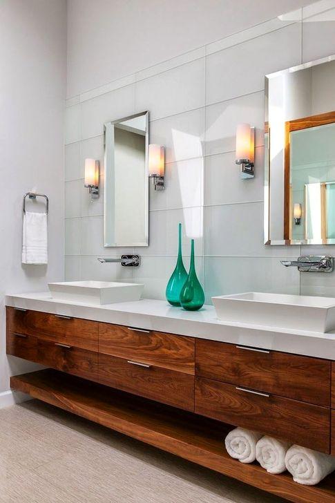 Inspiring Bathroom Design Ideas With Amazing Storage 16
