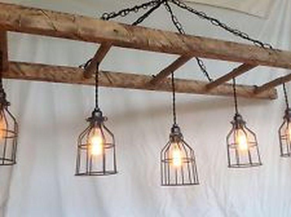 Magnificient Farmhouse Ladder Chandelier Ideas 01