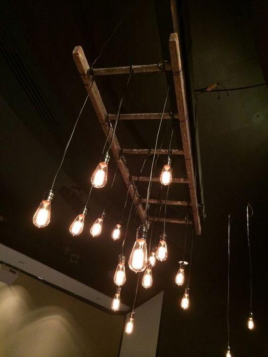 Magnificient Farmhouse Ladder Chandelier Ideas 04
