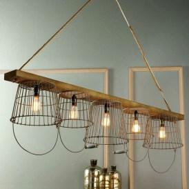 Magnificient Farmhouse Ladder Chandelier Ideas 32