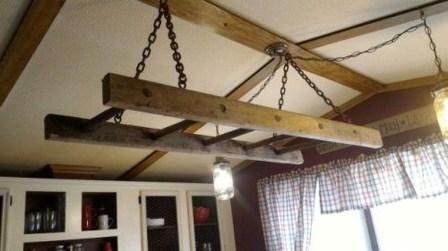 Magnificient Farmhouse Ladder Chandelier Ideas 42