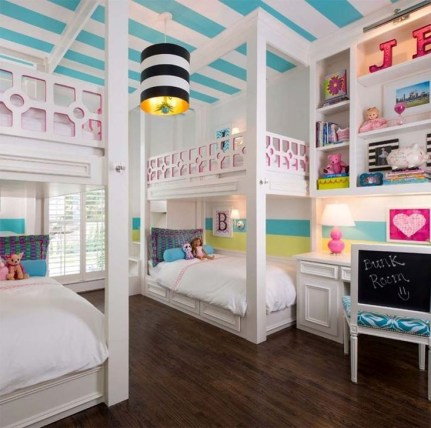Outstanding Striped Ceiling Bedroom Decoration Ideas 03