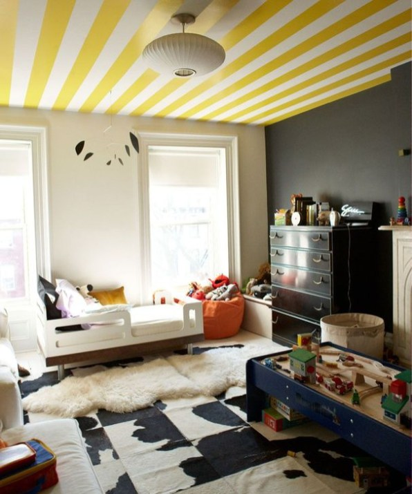 Outstanding Striped Ceiling Bedroom Decoration Ideas 10