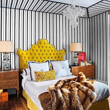 Outstanding Striped Ceiling Bedroom Decoration Ideas 22