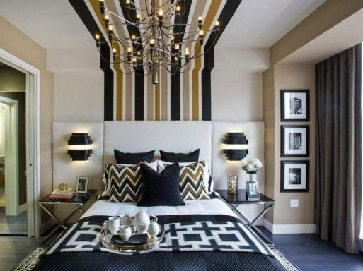 Outstanding Striped Ceiling Bedroom Decoration Ideas 23