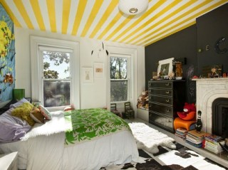 Outstanding Striped Ceiling Bedroom Decoration Ideas 27