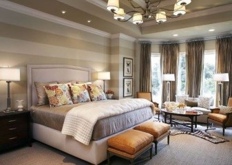 Outstanding Striped Ceiling Bedroom Decoration Ideas 29