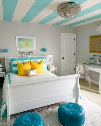 Outstanding Striped Ceiling Bedroom Decoration Ideas 39