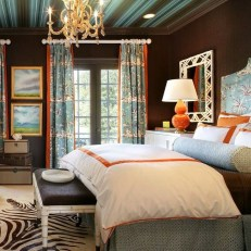 Outstanding Striped Ceiling Bedroom Decoration Ideas 43