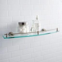 Perfect Glass Shelves Ideas For Bathroom Design 01