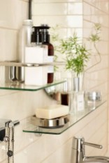 Perfect Glass Shelves Ideas For Bathroom Design 14