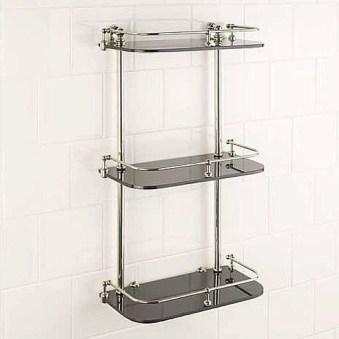 Perfect Glass Shelves Ideas For Bathroom Design 20