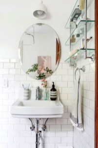 Perfect Glass Shelves Ideas For Bathroom Design 25