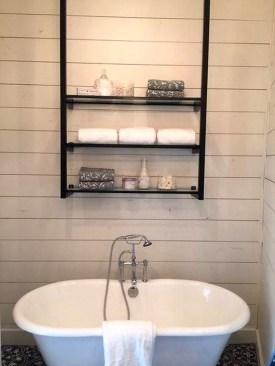 Perfect Glass Shelves Ideas For Bathroom Design 32