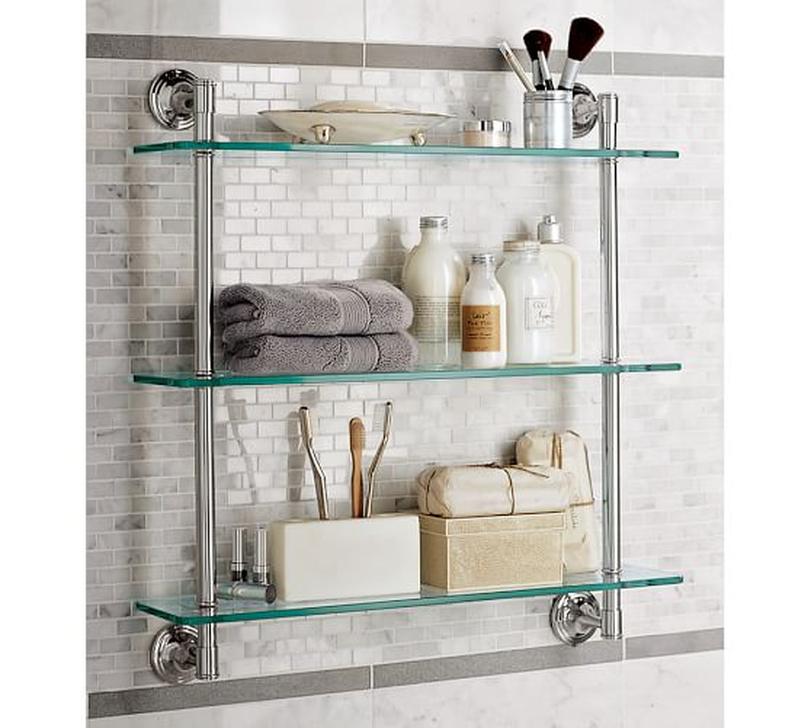 Perfect Glass Shelves Ideas For Bathroom Design 35