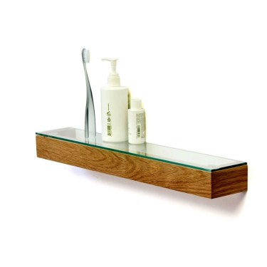 Perfect Glass Shelves Ideas For Bathroom Design 41