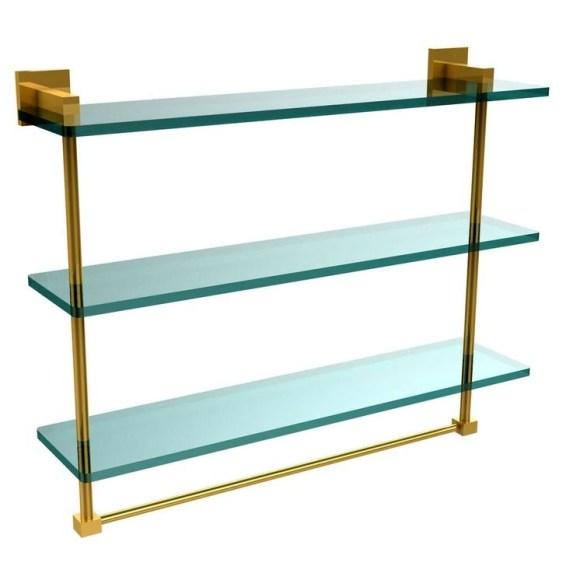 Perfect Glass Shelves Ideas For Bathroom Design 44