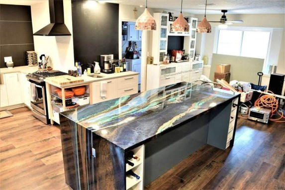 Awesome Kitchen Concrete Countertop Ideas To Inspire 14