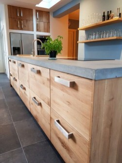 Awesome Kitchen Concrete Countertop Ideas To Inspire 33