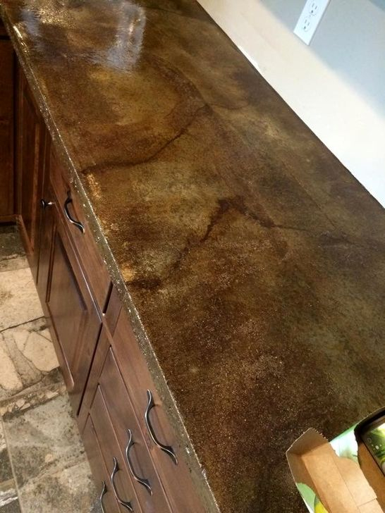 Awesome Kitchen Concrete Countertop Ideas To Inspire 46