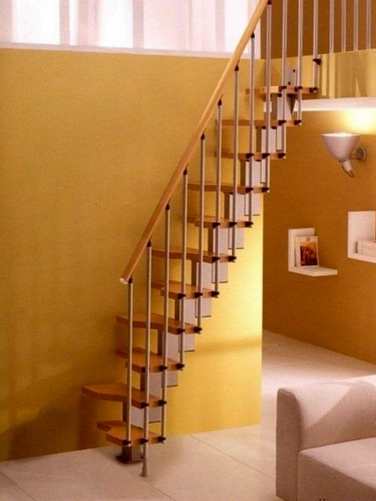 Brilliant Stair Design Ideas For Small Space 32